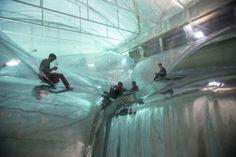 'On Space Time Foam' Exhibition / Studio Tomas Saraceno,Courtesy HangarBicocca Foundation, Milan