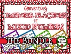 QR Code Activity: Converting Improper Fractions to Mixed Numbers.