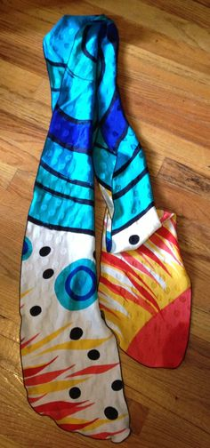 Amazing Abstract Print Extra Long Scarf!