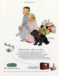 1950 - Dumont television - by Norman Rockwell by x-ray delta one, via Flickr