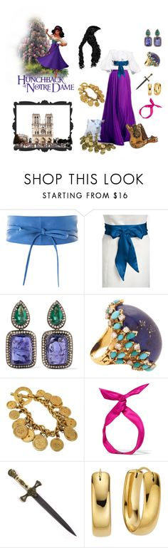 """Esmeralda - The Hunchback of Notre Dame"" by ladymachiavelli ❤ liked on Polyvore featuring Alexander McQueen, Disney, L. Erickson, Amrapali, Mahnaz Ispahani, CÉLINE, Mary Frances Accessories, yunotme and Whetstone Cutlery"