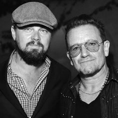 Leonardo Dicaprio et Bono aux oscars 2016