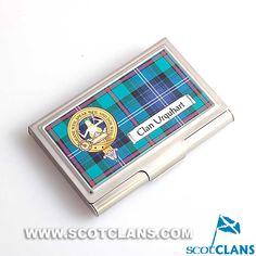 Urquhart Clan Crest Business Card Case
