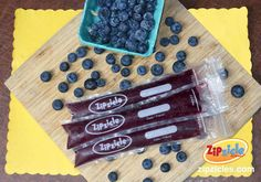 Blueberry Chia Seed Zipzicle® Ice Pops - More ideas at zipzicles.com. Just blend, don't heat in a saucepan.