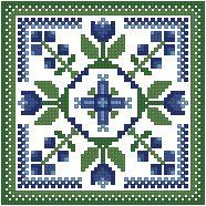 The Floss Box | Biscornu 372 Pdf pattern