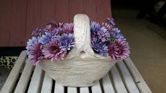 Vaso de cerâmica com efeito de patina