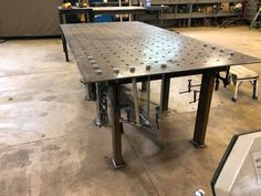 Welding Table Diy, Welding And Fabrication, Table Plans, Picnic Table, Outdoor Furniture, Outdoor Decor, Dining Table, Woodworking, Tables