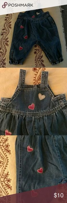 The Children's Place heart overalls: 3-6 months The Children's Place overalls. Hearts on front pocket & down one leg. Super cute!! Size 3-6 months. By The Children's Place. The Children's Place Bottoms Jumpsuits & Rompers