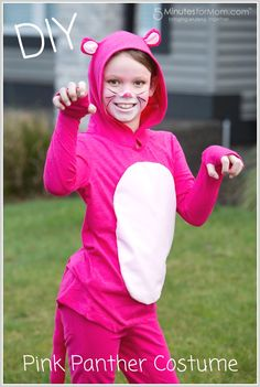 DIY Pink Panther costume tutorial - This is an easy halloween costume to make.