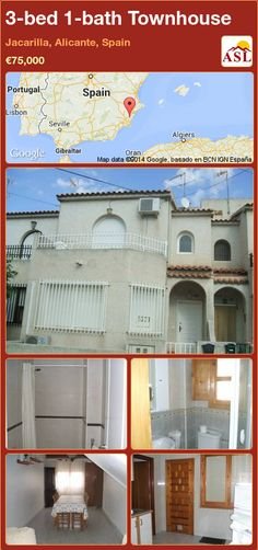 3-bed 1-bath Townhouse in Jacarilla, Alicante, Spain ►€75,000 #PropertyForSaleInSpain