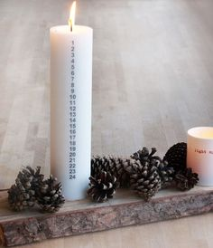 Christmas decoration- this is a fun idea for an advent! Christmas Countdown, Christmas On A Budget, Nordic Christmas, Christmas Mood, All Things Christmas, Simple Christmas, White Christmas, Xmas, Christmas Tables