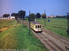 1950s-TRAM-ON-LINE-CARTIERVILLE-NEAR-MONTREAL-SACRE-COEUR-HOSPITAL Tramway, Old Montreal, Public Transport, Ottawa, Old Photos, Railroad Tracks, 1950s, Transportation, Images