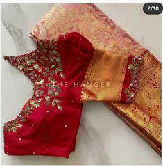 Saree Kuchu Designs, Wedding Saree Blouse Designs, Saree Models, Designer Blouse Patterns, Indian Designer Outfits, Gold Designs, Simple Designs, Blouse Desings, Drape Sarees
