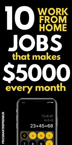 There are lots of work from home jobs, of which some are given in details below and there is work from home jobs (like selling on Am. Make Real Money, Earn Money From Home, Earn Money Online, Online Jobs, Money Fast, Work From Home Careers, Legitimate Work From Home, Legit Work From Home, Job Work