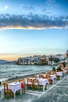 Greece Travel Inspiration - Little Venice, Mykonos, Greece