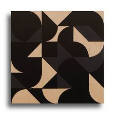 Matte and glossy black paint on wood separating the shapes under different angles. #contemporaryart #modernart #abstractart #geometricart #blackonblack #graphicart