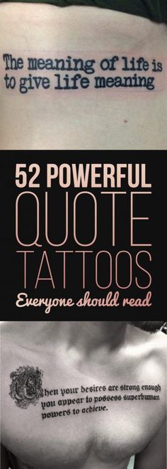 52 Powerful Quote Tattoos Everyone Should Read | TattooBlend
