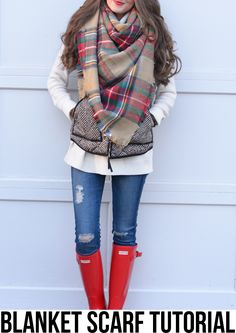 Fall Winter Fashion Outfits With Plaid Blanket Scarves - Winter Outfits Look Fashion, Street Fashion, Womens Fashion, Fall Fashion, Fashion Trends, Vogue Fashion, Fashion 2017, Trendy Fashion, Latest Fashion
