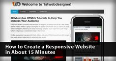 How to Create a Responsive Website in About 15 Minutes