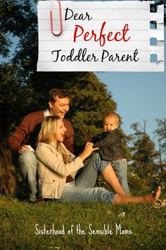 Dear Perfect Toddler Parent - Feeling a tad self-righteous about your little angel? Here's a few wee things to consider before throwing judgement around.   Parenting Advice with Humor   Sisterhood of the Sensible Moms