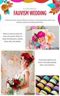 Wedding inspiration fauvism - See more inspirating wedding themes on B. Art Deco Wedding, Wedding Themes, Wedding Colors, Wedding Decorations, Wedding Planning On A Budget, Plan Your Wedding, Summer Wedding, Diy Wedding, Wedding Ideas