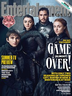 This week's Entertainment Weekly gives fans a long-awaited Stark family reunion — collect all five covers featuring Jon Snow, Arya, Sansa, and Bran.