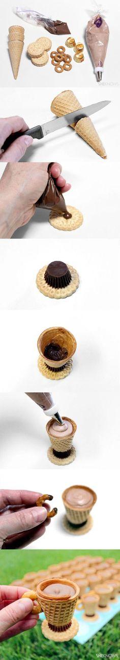 Amazing teacup cookies that look just like little teacups! DIY Tea Party Fancy Treats by DIY Ready at http://diyready.com/kids-tea-party-ideas/