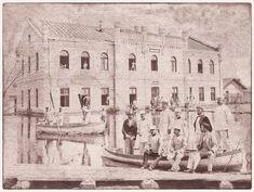 [foto] Cladirea Arsenalului Flotilei de Război a Marinei- Galați - 1910 • Știrile Galațiului 1 Decembrie 1918, Thing 1, Romania, Arsenal, Buildings, Painting, Atelier, Painting Art, Paintings