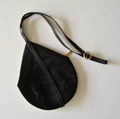 Rodo Handbag in Black Suede Made in Italy Small by ModernSquirrel