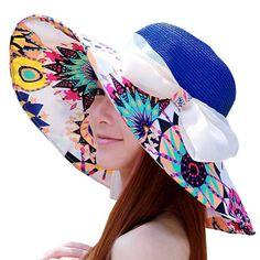 Aliexpress.com  Compre Mulheres praia chapéu de palha grande de grande  dobrável chapéu de palha praia sol C412 de confiança marriage suits  fornecedores em ... 279f4575996