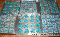 Decorated butter cookies for company event