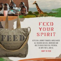"""FEED Projects, a bag and accessory company """"creating good products to help feed the world.""""  Http://theconsciousconsumer.tumblr.com"""