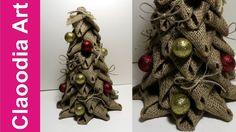 Choinka z juty (Christmas tree made of linen, DIY)