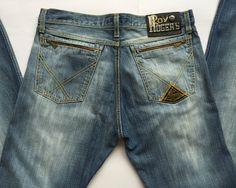 Roy Rogers Deluxe jeans W33 tg 47 gamba dritta pantalone uomo azzurro usato men