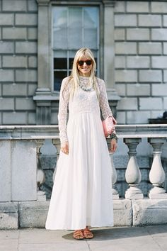 love the granny dress and cool accessories! hello summer! ~Anny