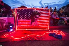 Colorful: Many fans set up their own memorial sites at the festival, such as this colorful display