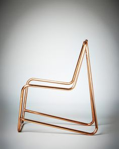 Chroma Frame by Lucy Birley & Lambert Rainville Copper Furniture, Cool Furniture, Modern Furniture, Furniture Design, Scandinavian Furniture, Scandinavian Design, Copper Frame, Chair Design, Rattan