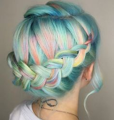 If that braid led to a bun!! Perfect with a sparkle headband
