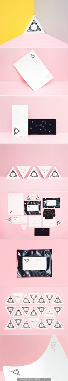 I like the mystical feel behind this brand identity. Also love the pink.