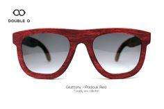 Gluttony - Padouk Red / Handmade Wooden Sunglasses / Made in Crete,Greece