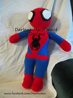 Knitting Pattern For Spiderman Doll : Free Spiderman knitting pattern Knitting Pinterest ...