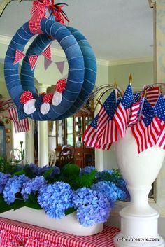 Patriotic Mantel - Refresh Restyle #patriotic #july4th