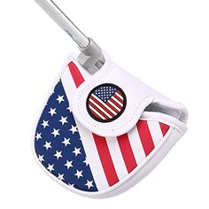 7a48f5910f4 HDE Mallet Putter Cover with Magnetic Closure 2 Ball Leather Headcover Club  Protector for Odyssey TaylorMade