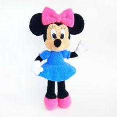 MINNIE MOUSE amigurumi crochet pattern, Disney Crochet pattern, Stuffed Disney Toys, Amigurumi crochet pattern Disney Crochet Patterns, Crochet Amigurumi Free Patterns, Crochet Animal Patterns, Crocheting Patterns, Knitting Patterns, Minnie Mouse, Russian Pattern, Mimi Y Mickey, Lilo And Stitch Toys
