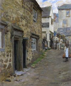 'THE KEIGWIN ARMS, MOUSEHOLE' by Stanhope Alexander Forbes.     ✫ღ⊰n