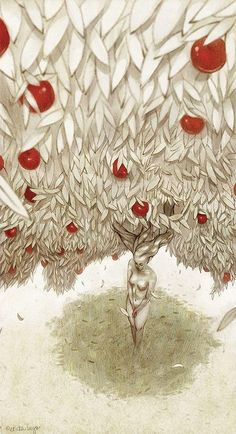 25 Ideas for apple tree illustration drawings Apple Tree Drawing, Magical Tree, Tree Illustration, All Nature, Painting & Drawing, Cool Art, Awesome Art, Fine Art, Art Prints