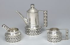 Josef Hoffmann, silver tea service