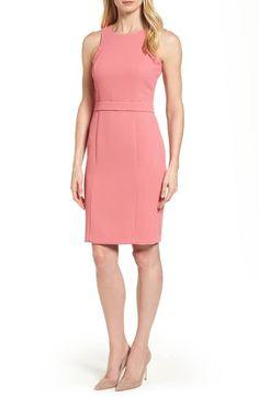 BOSS Dalanea Belted Sheath Dress (Regular & Petite)