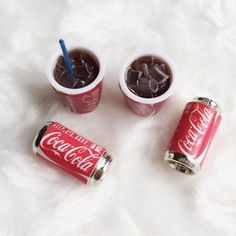Miniature Coke Cup and Coke Can Set,Miniature Coke,Dolls and Miniature,Miniature Beverage ,Miniature Coca Cola, Pepsi, Snoopy Pictures, Coke Cans, Mini Things, Mini Foods, Coco, Canning, Drinks