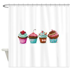 Cupcakes Shower Curtain on CafePress.com